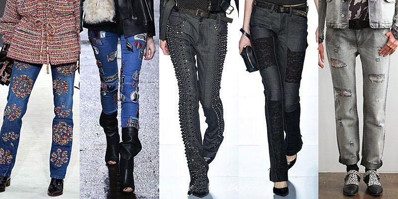 Джинсы с подворотами и манжетами модная тенденция 2015-2016