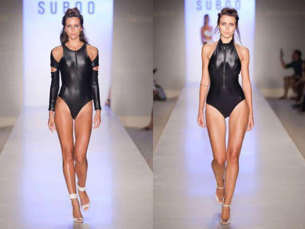 Кожаные купальники модно и оригинально
