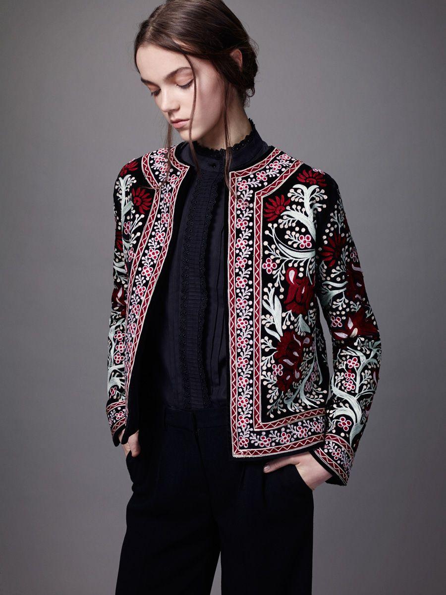 Креативный модный пиджак с вышивкой