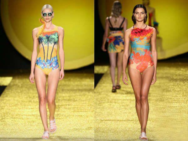 Модные купальники с цветочным принтом