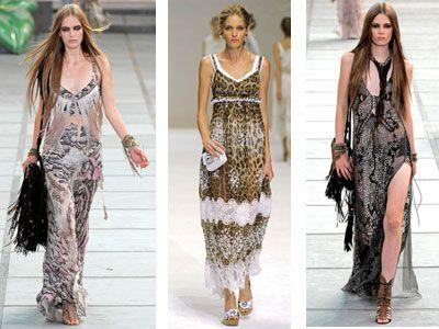 Модные сарафаны с животными принтами