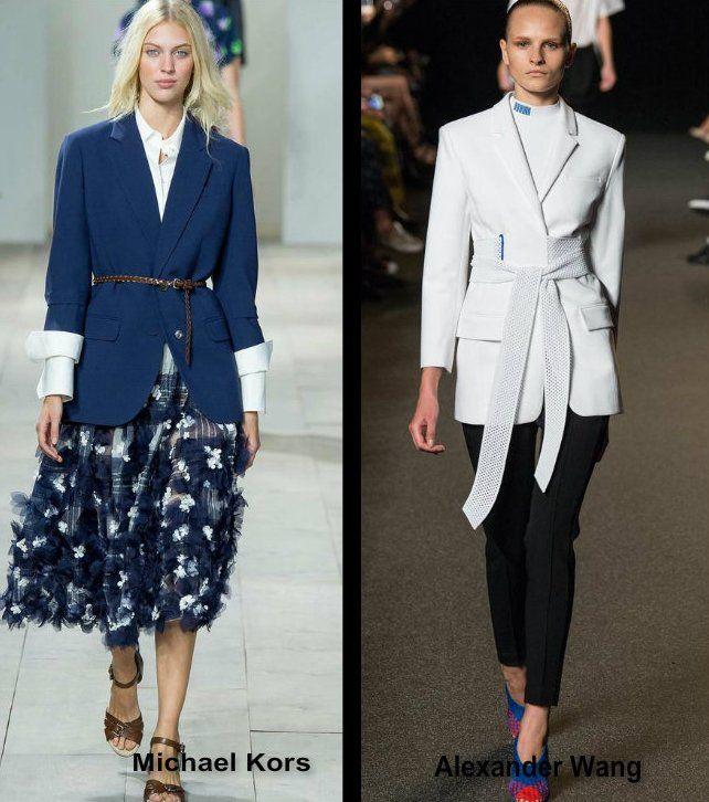 Модный показ приталенные пиджаки и жакеты