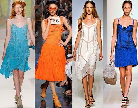 Разнообразие цвета в модных сарафанах