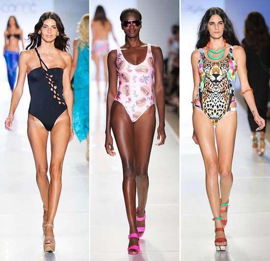 Слитные купальники для девушек на лето 2015