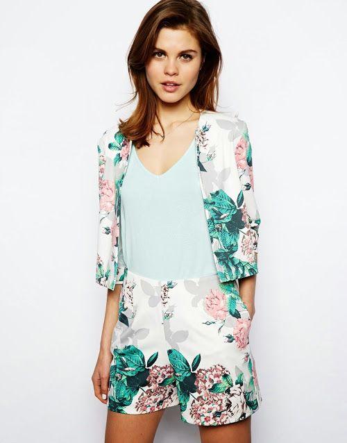 Цветочный принт в пиджаках 2015