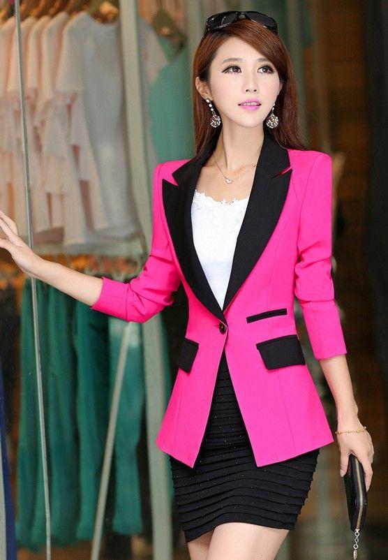 блейзер с длинным рукавом мода 2015