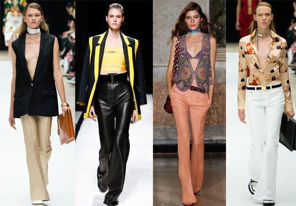 Брюки клеш модно и стильно