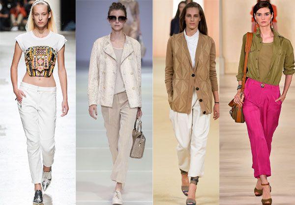 Девушки и укороченные брюки тренд сезона