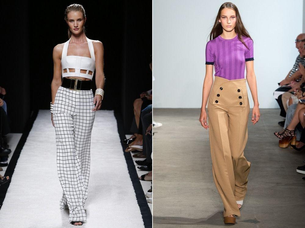 Дизайнерские брюки с завышенной талией