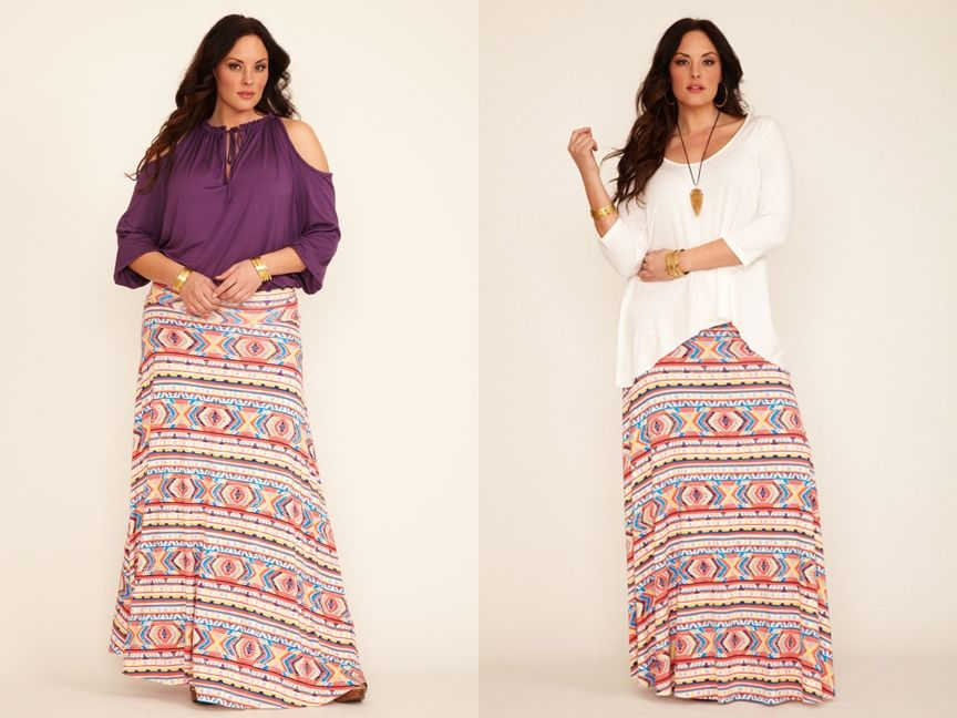 Длинные юбки для полных