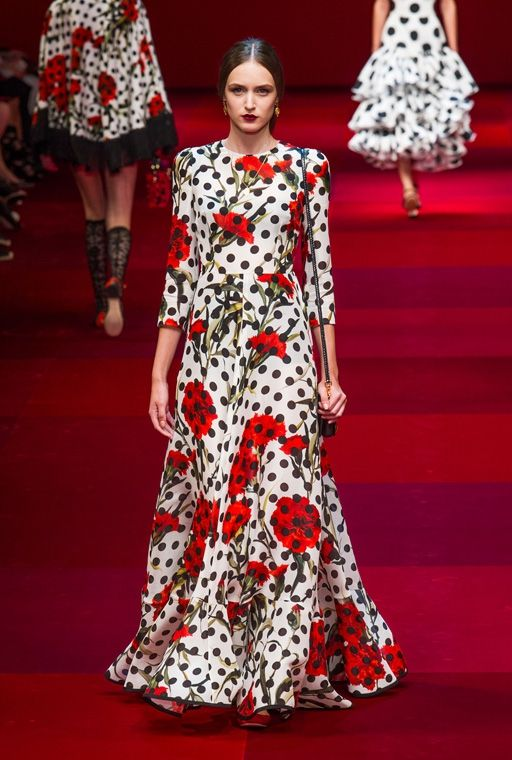 Dolce Gabbana и платье в пол с декором