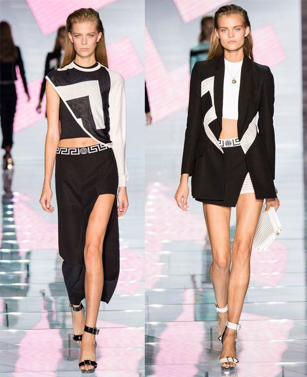 Идеальное сочетание белого и черного в коллекции versace