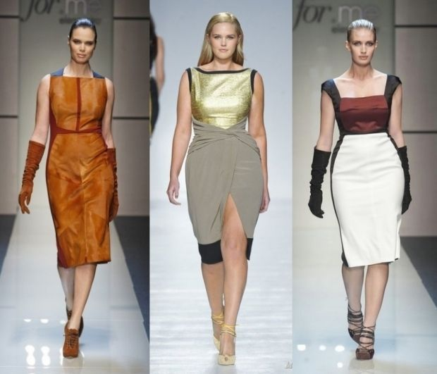 Мода для полных платья футляр