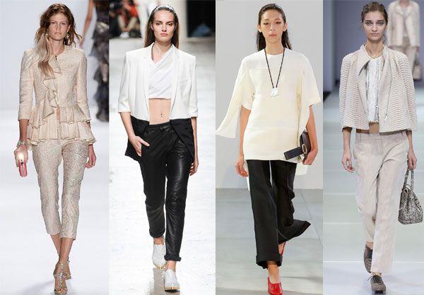 Модели укороченных брюк для девушек