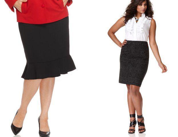 Модная юбка годе для полных и стильных женщин