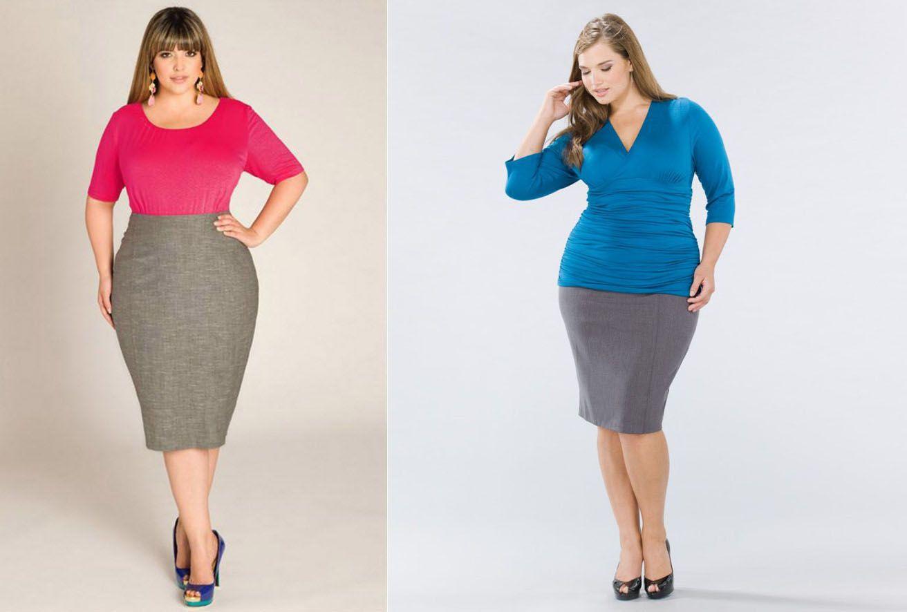Модная юбка карандаш идеальна для аппетитных форм