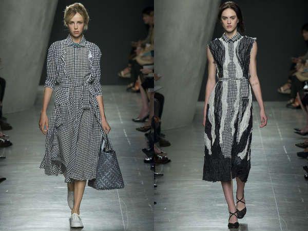 Модные офисные платья в клетку