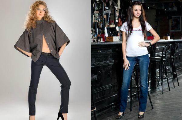 Модные прямые брюки для девушки