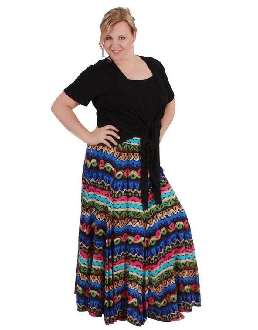 Модные юбки для полных из коллекции дизайнеров