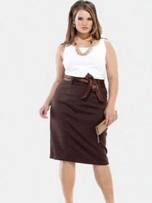 Модные юбки для женщин с пышными формами