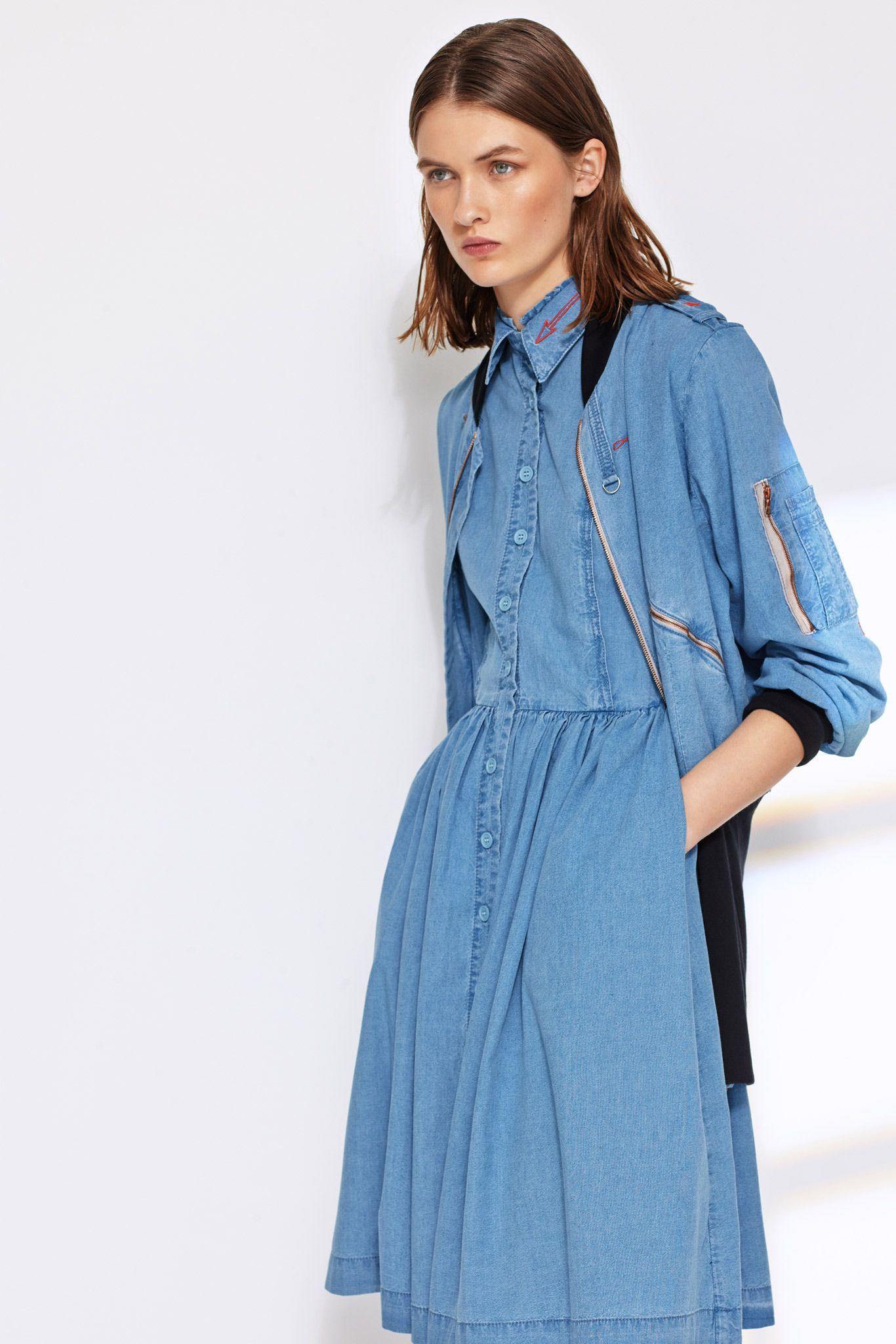 Оригинальное джинсовое платье на каждый день