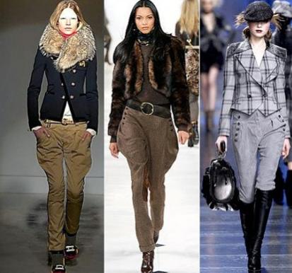 Современные и модные брюки галифе
