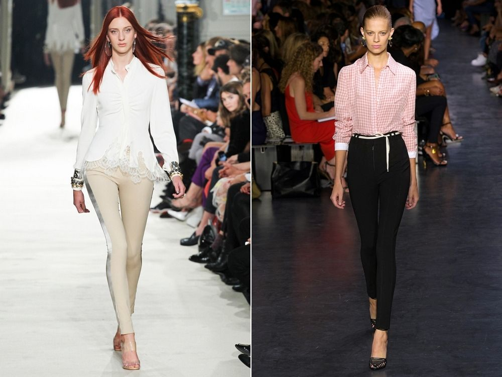 Стильные брюки скинни для настоящих модниц