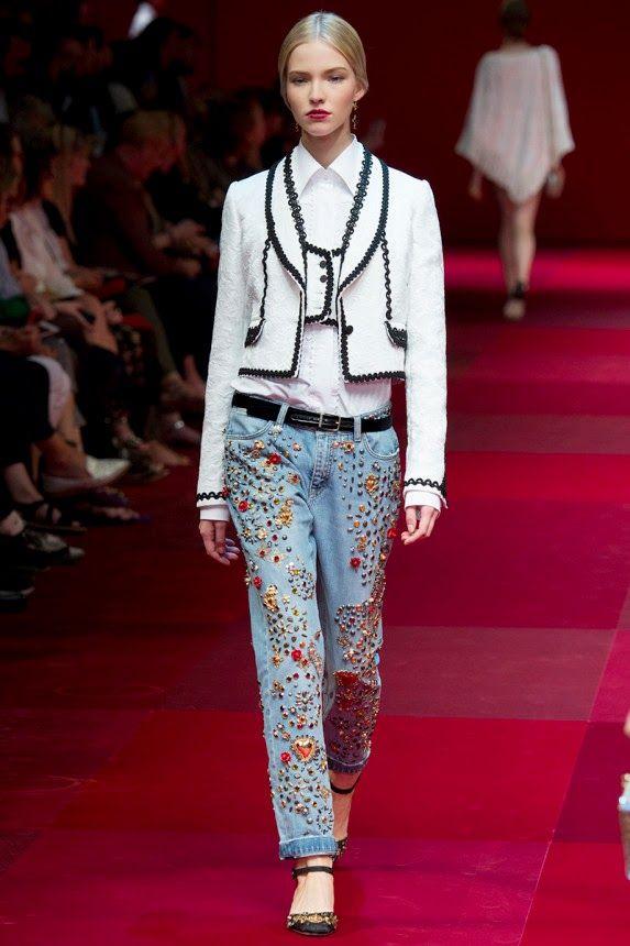 dolce gabbana и его модные джинсы сезона