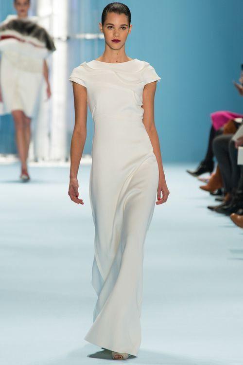 Модное белое вечернее платье