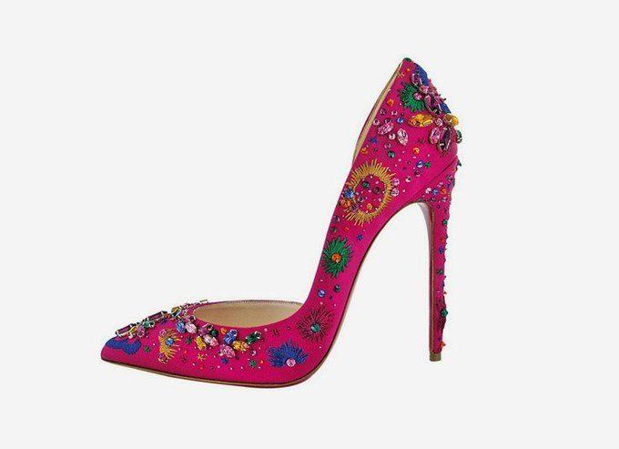 Праздничные туфли с камнями на новогодний вечер