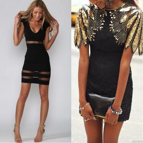 Стильные короткие вечерние платья