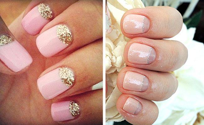 Аккуратный свадебный маникюр на короткие ногти