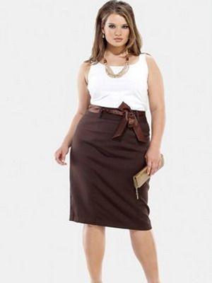 Модные юбки и платья для дам с пышными формами