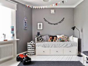 Серая детская комната
