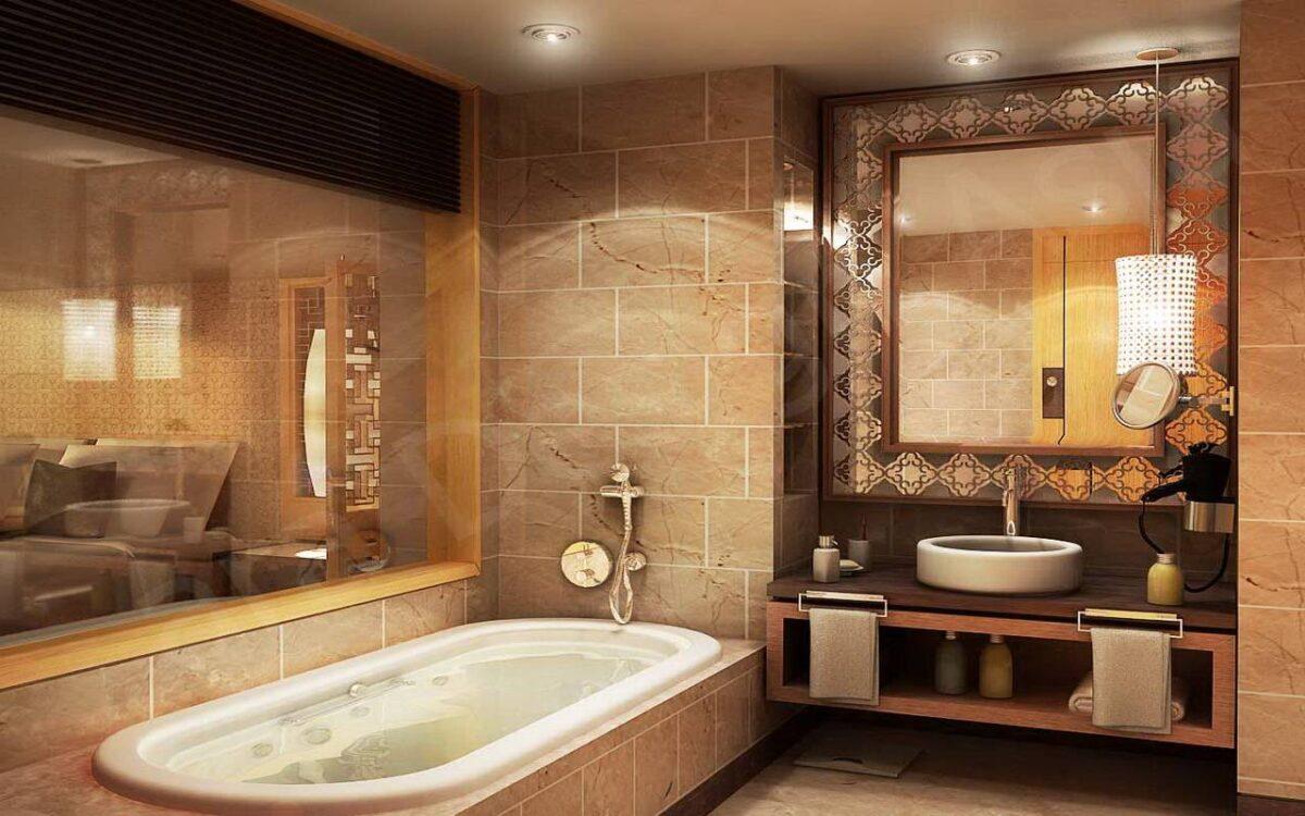 Ремонт в ванной комнате и элементы ее декора